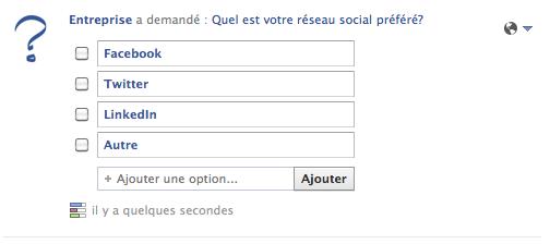 sondage continuum communication facebook