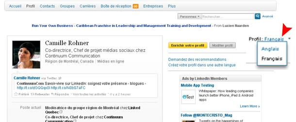 Mettre Linkedin Profildeux Langues3 - Continuum